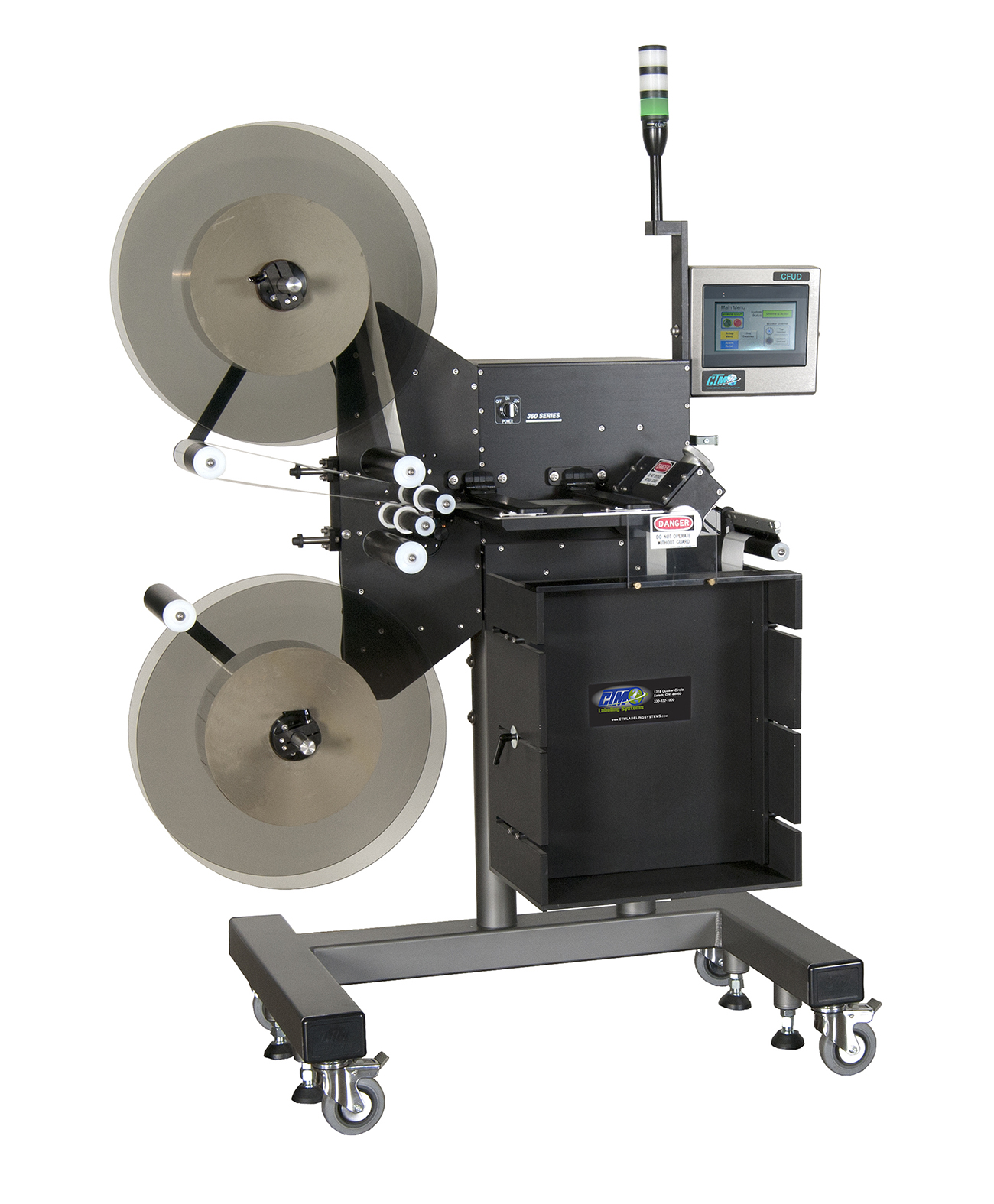 CTM's Continuous Feed Dual Unwind Labelers